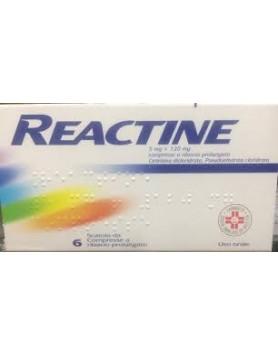 Reactine 6 Compresse 5mg + 120mg